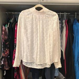 Sundance, White Lace Top, Size M